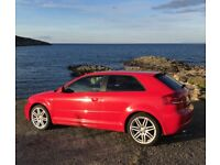 Audi A3 s line 2.0 red