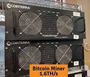 Cointerra TerraMiner 1.6TH/S Bitcoin BTC Miner