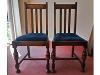 2x Dining room chairs. Solid wood. Collection only.