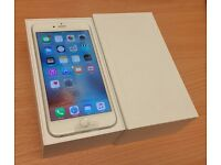 iPhone 6 PLUS UNLOCKED 16GB SILVER BRAND NEW APPLE REPLACEMENT BOXED ACCESSORIES SHOP WARRANTY
