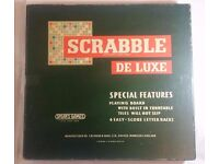 Scrabble Deluxe Rotating board game and Non Slip Tiles