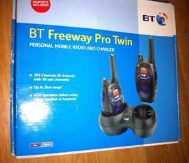 BT Freeway Pro Twin Personal Mobile Radio & Charger Brand New