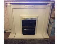 Working electric fire and surround