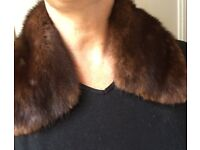 Vintage real fur collar