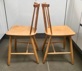 Pair of Farstrup Danish Original Mid Century Retro 50s Dining Chairs