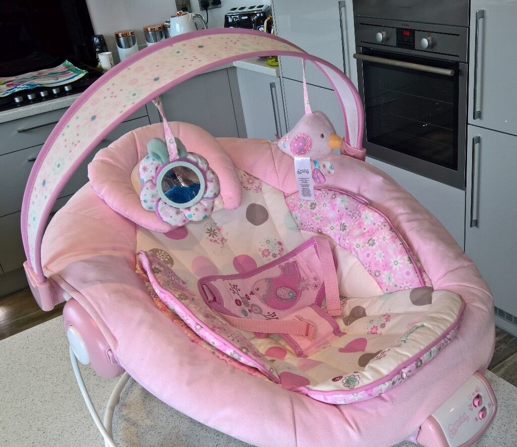a1b6187c04d2 Pink Comfort and Harmony Baby Bouncer (Used) and Bright Starts ...