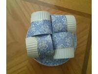 Vintage blue and white bone china cups and plates