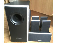 Samsung PS-WQ20 Hi-Fi Home Surround Sound Satellite 5.1 Speakers black
