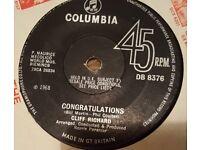 Vintage single - Congratulations - Cliff Richard 1968