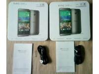 2×HTC One M8 empty box with accessories