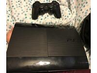 PS3 super slim extra memory x2 Control pads with games ,