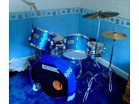 DRUM KIT (5 Piece) Cannon Adder Starter Kit (MET BLUE)