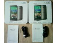 2× HTC One M8 empty box with accessories