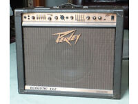 Peavey Ecoustic 112 guitar amp for sale - works perfectly. Stand and cover incl.