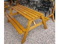 Wooden picnic tables and garden benches. Great value