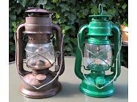 Two oil lanterns