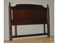 "Attractive Large Vintage High Quality Stag 54"" Double Bed Headboard"
