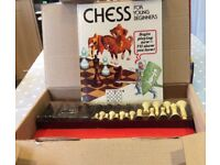 Chess set for young beginners