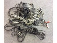 9 cables for sound equipment