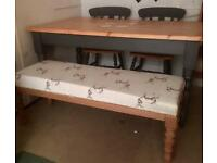 Vintage xl stool/table bench/window seat*stag