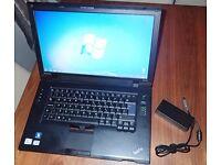 "Lenovo ThinkPad SL510 Laptop / T6570 / 2GB Ram 320GB HDD / DVD-RW / 15"" Windows 7"