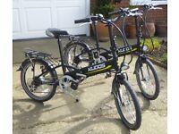 "Pair of Kudos 'Secret' Unisex Lightweight Folding Lithium Electric Bikes 20"" Wheels"
