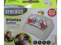 HOMEDICS SHIATSU CUSHION WITH HEAT SOOTHES TIRED MUSCLES