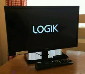 20in LOGIK LED TV with Freeview HDMI USB VGA
