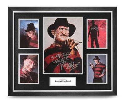 Robert Englund Signed Photo Large Framed Freddy Krueger Display Autograph + COA
