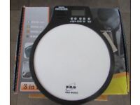 ENO 3 in 1 DIGITAL PRACTICE DRUM PAD with Metronome, speed detection still boxed