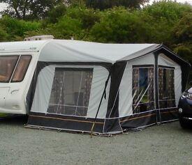 Dorema Escada Caravan Awning with lightweight fibreglass poles.