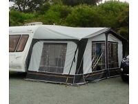 Dorema Escada Caravan Awning with lightweight fibreglass poles.