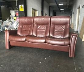 £2000 Fjords leather recliner sofa CAN DELIVER