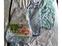 3x baby sleeping bags, summer tog, 6-12 months