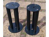 Custom Black Speaker Stands