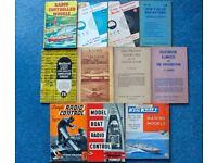 12 radio control books 1960s-1970s