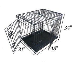 XXL black dog crate, immaculate