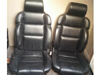 Fiat Coupe Turbo Full Black Leather Seats Front & Rear - Replacement / Kit Car / Home Furniture?