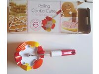 Bakeware - New/ Boxed/ Unused Rolling Cookie Biscuit Cutter [6 Shapes]