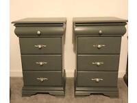 Set of bedside cabinets hand painted farrow and ball