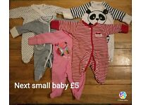 Next first size bundle of sleepsuits