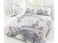 Paris Bedding Duvet Quilt Cover & Pillowcase set, Single Double & King. New!!