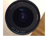 Canon EF-S 9518A002 10-22mm f/3.5-4.5 USM Lens.