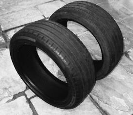 2 radial tyres – 205/45R17 88W Part worn but plenty miles left....