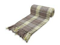 Cotton Highland Tartan Check Blanket/Bed Throw