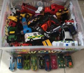 Box of children's toy cars all 50p each