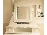 solid pine shabby bedroom vanity mirror