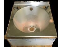 NEW & UNUSED Small Stainless Steel Wash Hand Basin Ideal For Garage/Workshop
