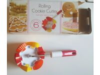 Unused/Boxed Rolling Cookie Cutter 6 Shapes