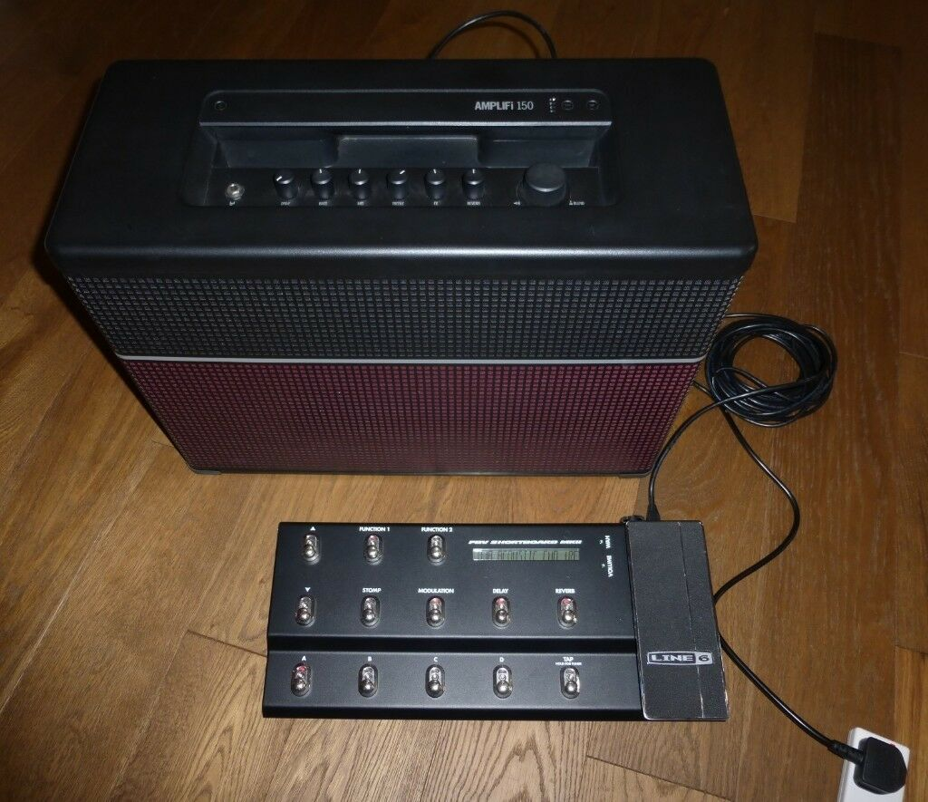 Line 6 Amplifi 150 Bluetooth Amplifier & FBV Shortbaord MKll Floor unit NEW  CONDITION!